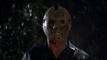 Roy (as Jason) stares ahead at a potential victim