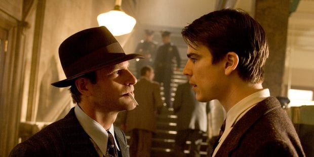 Aaron Eckhart and Josh Hartnett in The Black Dahlia, 2006
