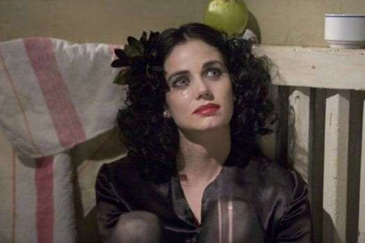 Mia Kirschner as the tragic figure, Elizabeth Short, in Brian De Palma's 2006 movie, The Black Dahlia