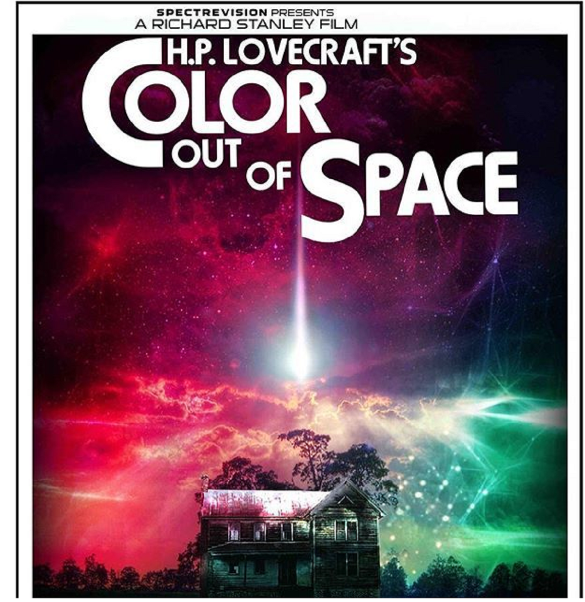 Poster for The Color Out of Space, starring Nicolas Cage, directed by Richard Stanley, SpectreVision