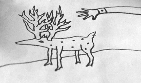 Gordon's doodle of a deer like creature