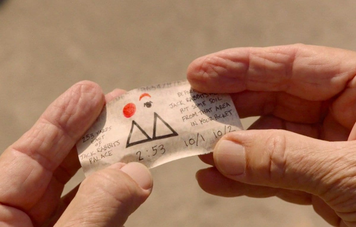 Major Briggs note shows 2 triangles, a red circle, red crescent and the owl symbol plus the numbers 2.53