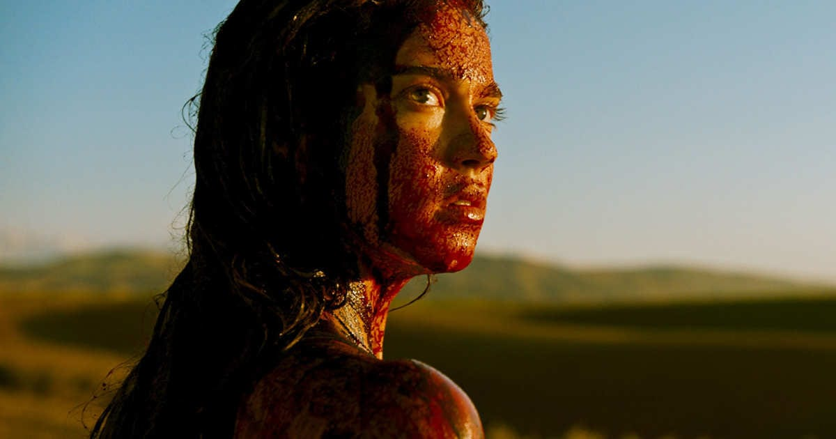 A shot from the 2017 film Revenge.