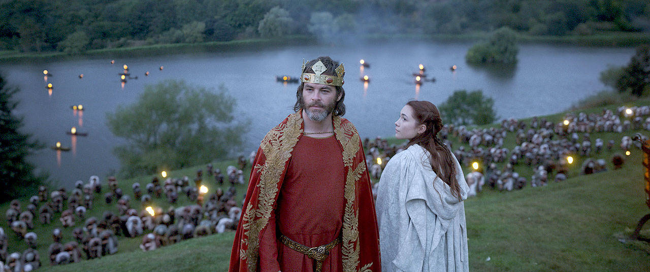 Chris Pine stars as Robert the Bruce in Outlaw King