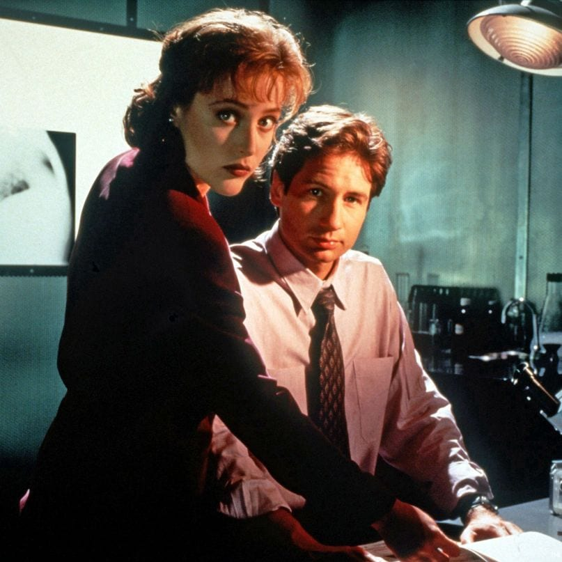 Agents Mulder and Scully's look changed a lot as the series went on, and this is from Season 1