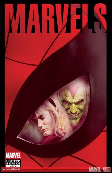 Marvels #4 cover art, Marvel Comics, by Alex Ross
