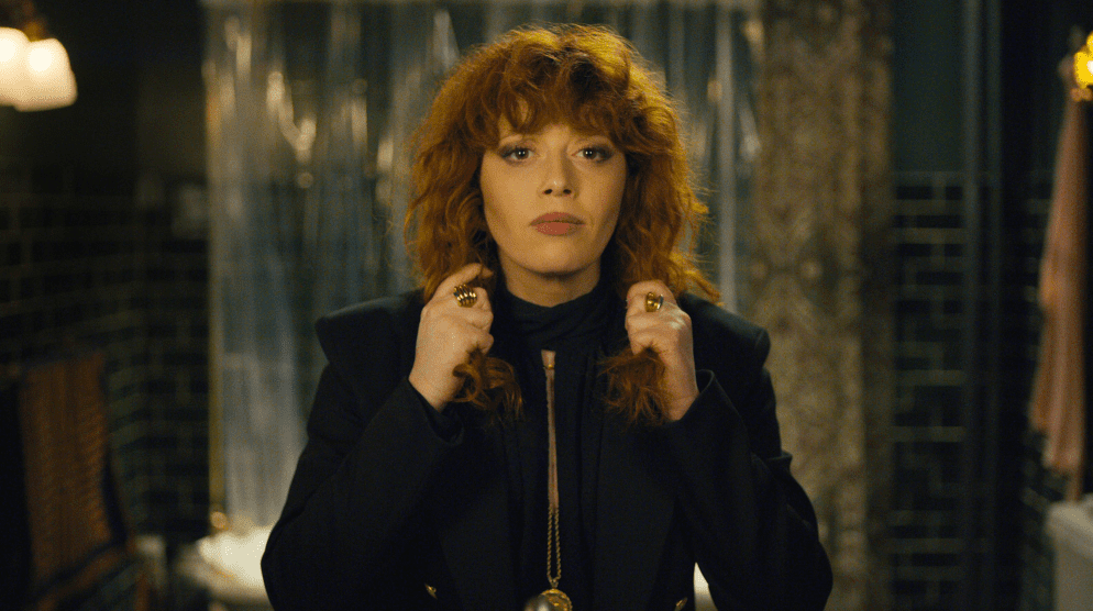 Nadia, (Natasha Lyonne) in one of many resurrections at the bathroom mirror.