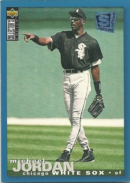 Michael Jordan White Sox Upper Deck baseball card