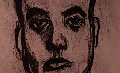 a charcoal picture of an unknown mans face