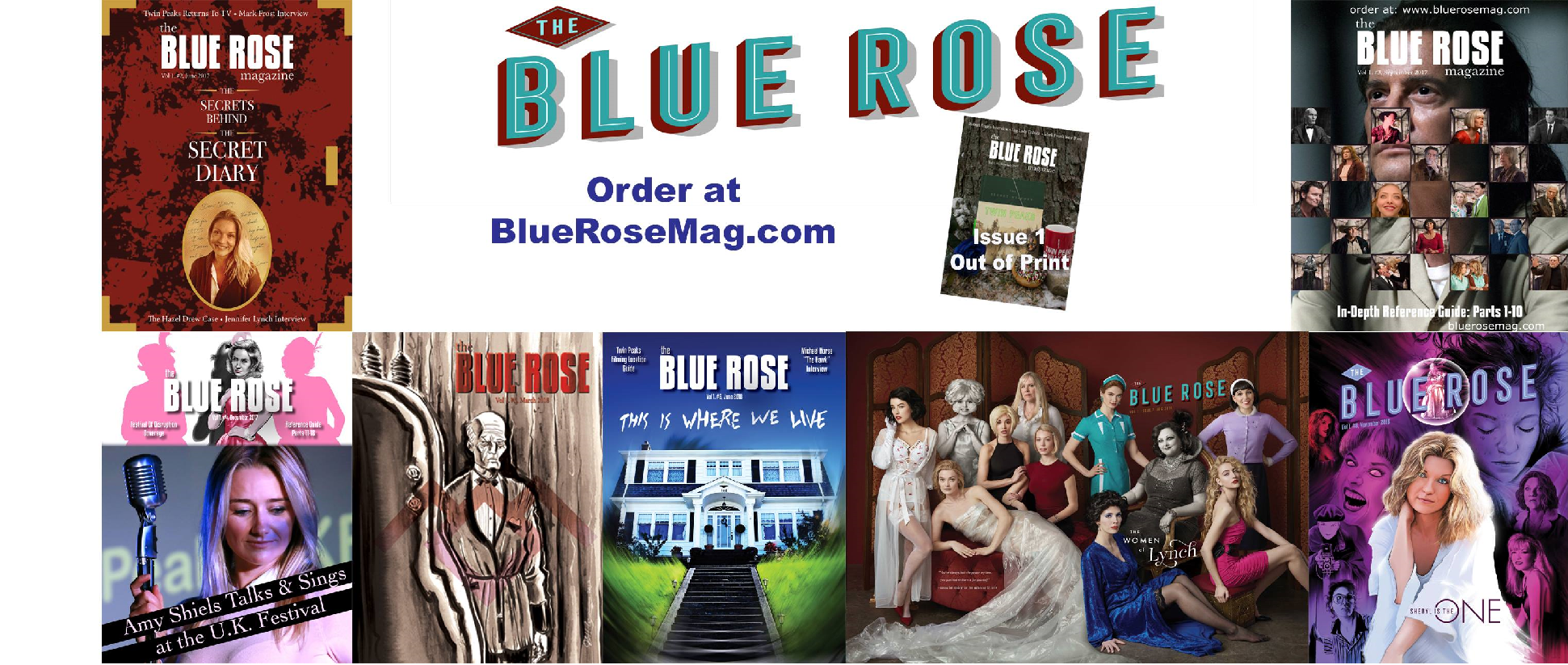 The Blue Rose Magazine Covers of 2017 and 2018