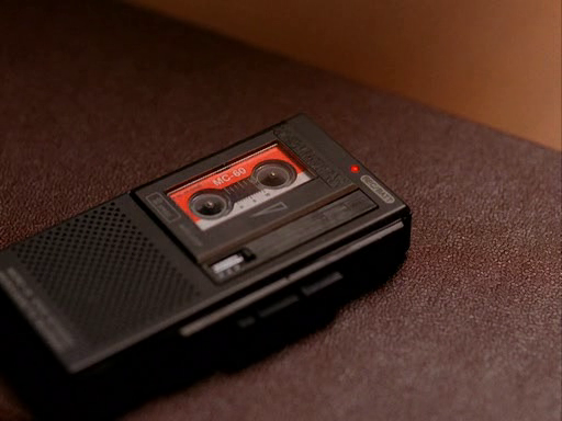 Diane as the tape recorder, before she became a full grown woman, played by Laura Dern, Twin Peaks
