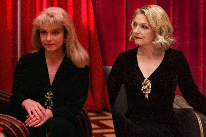 Sheryl Lee as Laura Palmer, then and now