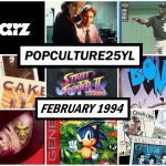 a collage of pop culture from February of 1994