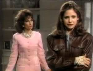 A scene from All My Children with Susan Lucci as Erica Kane and Sarah Michelle Gellar as Kendall Hart
