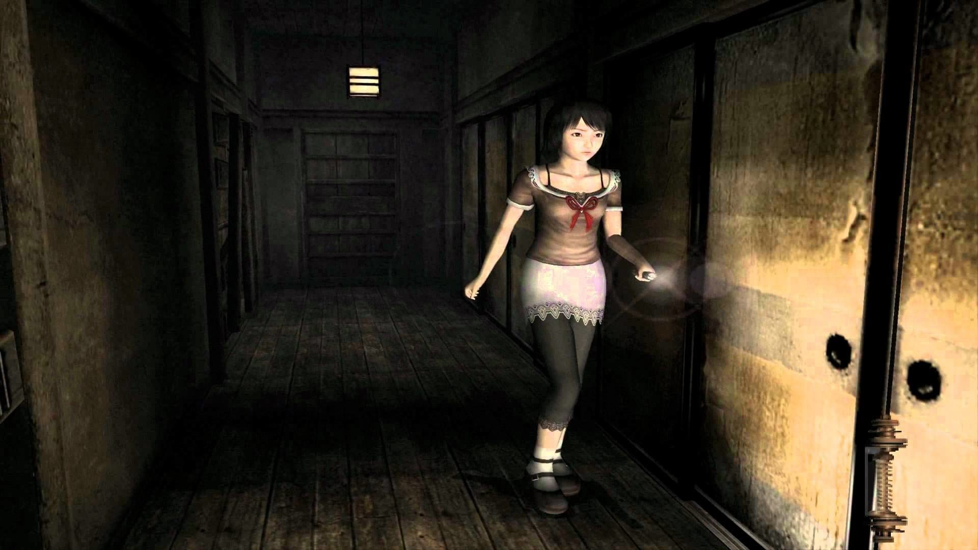 A game-play screenshot from the Fatal Frame franchise