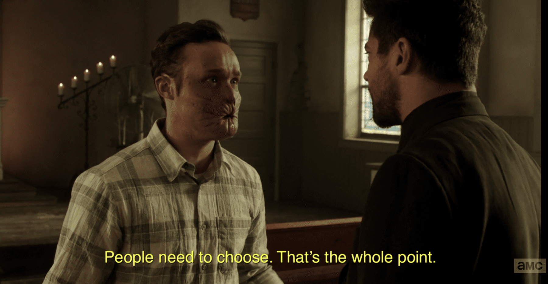"Eugene ""Arseface"" Root and Preacher Jesse Custer"
