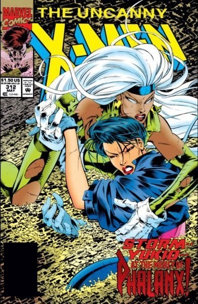 Uncanny X-Men #312 cover, art by Joe Madureira