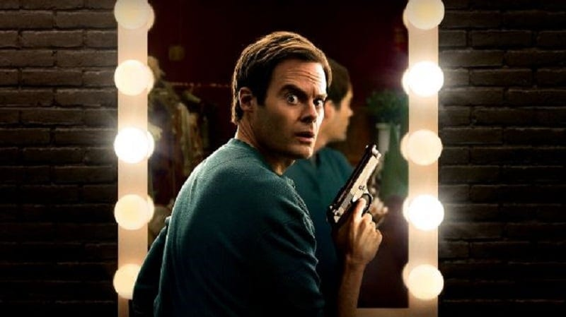 Barry Berkman (Bill Hader) holds a gun in the promotional poster for HBO's Barry Season 1