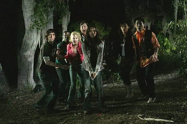 The cast of the horror film Hatchet