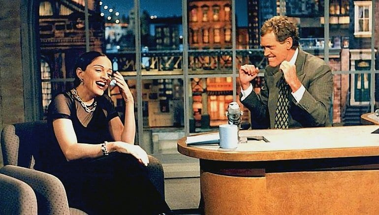 Madonna dukes it out with David Letterman on her March 31st appearance on his show.
