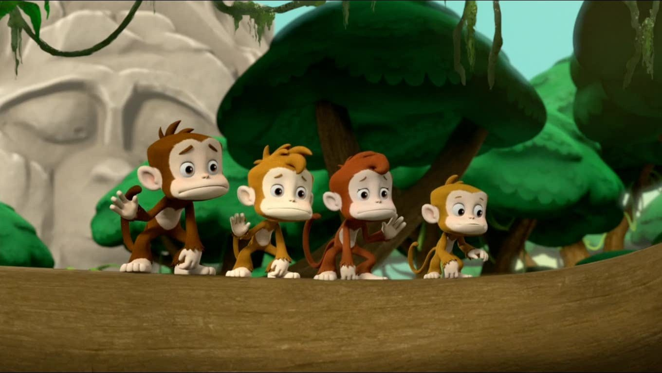 Candy, Mandy, Sandy and Dandy live in the forest with Carlos and Tracker.