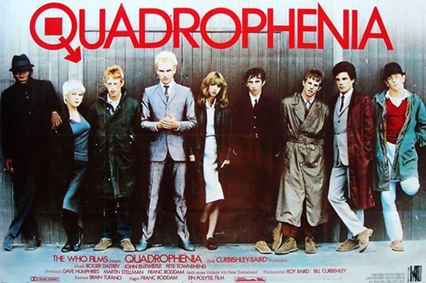"""The cast of """"Quadrophenia"""" posed for this poster shot."""