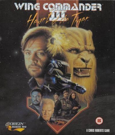 Wing Commander II box art as seen in North America for PC.