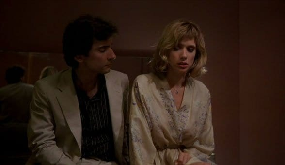 Griffin Dunne and Rosanna Arquette in After Hours
