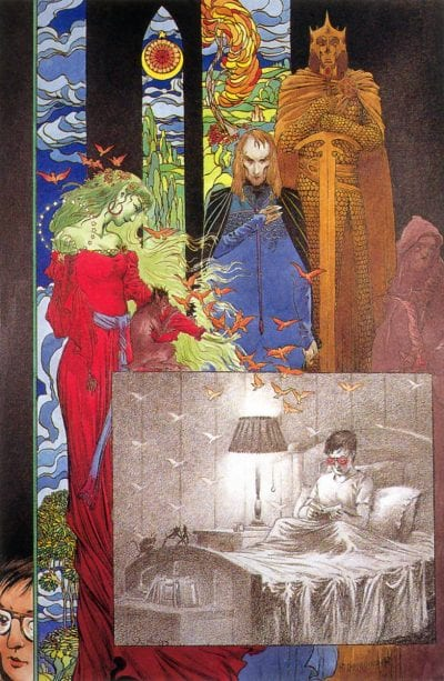 Charles Vess drew the covers to the Books of Magic ongoing series from DC/Vertigo