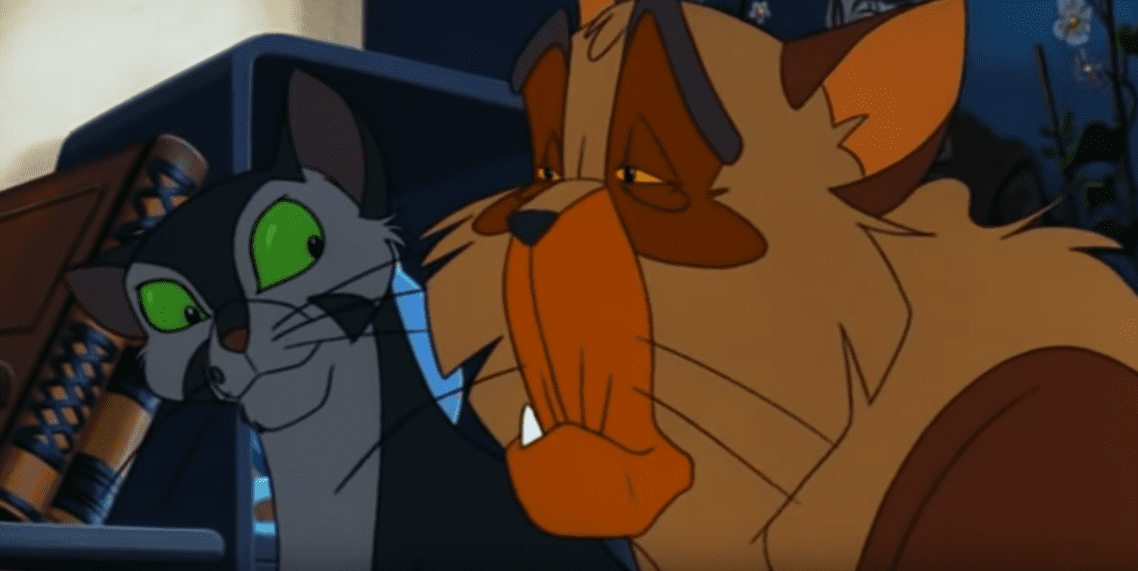 In Felidae, Francis and a senior cat named Pascal discuss the murders in the neighborhood.