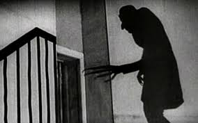 Nosferatu's shadow on the wall