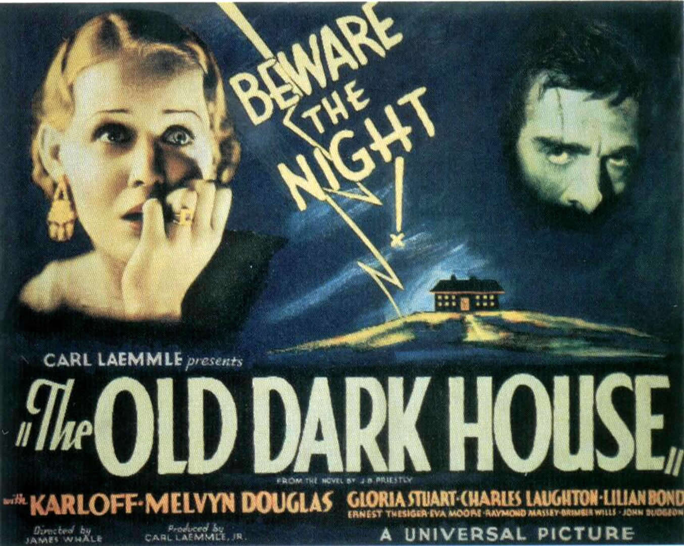 Film poster for The Old Dark House, 1932