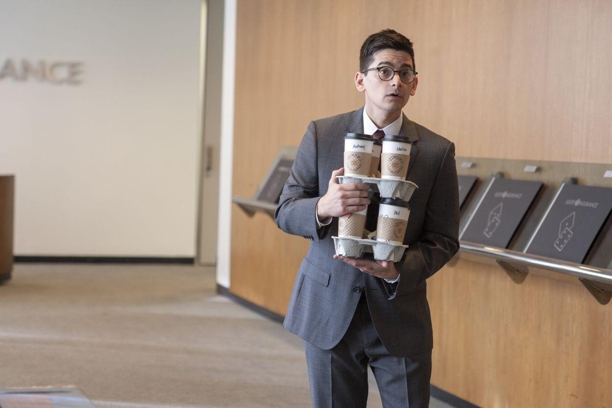 Phil Bisby brings coffee Twin Peaks