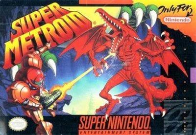 Super Metroid box art for the Super Nintendo