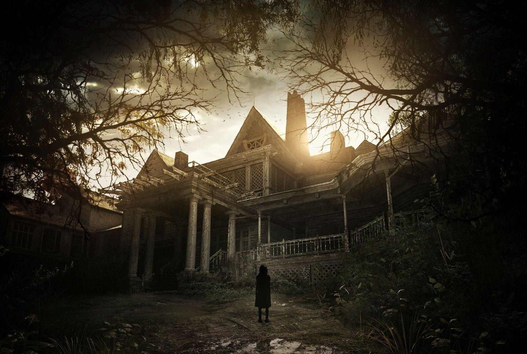 The Baker Mansion in some promo art for Resident Evil 7