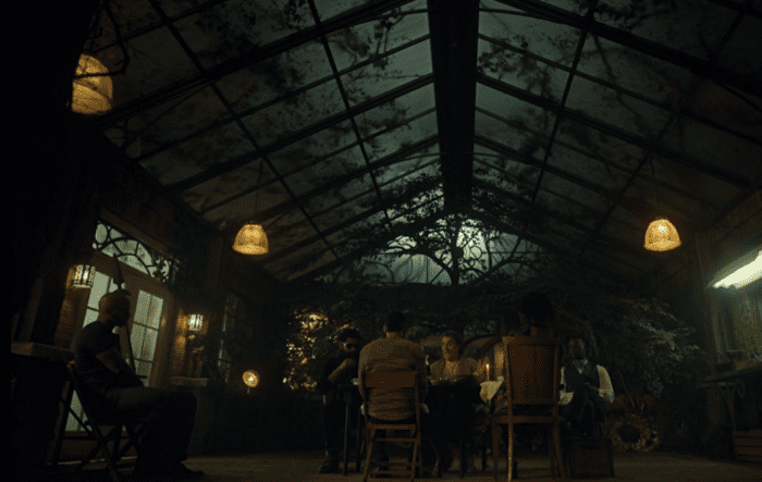 "Wednesday hosts a last supper of sorts in American Gods ""Treasure of the Sun."""