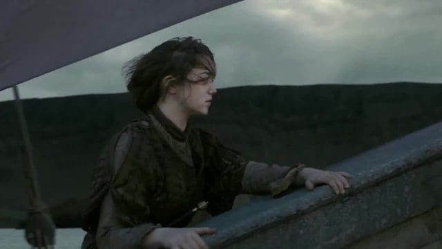 Arya sailing to Braavos in Game of Thrones