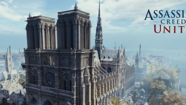 CGI of Notre Dame from Assassin's Creed