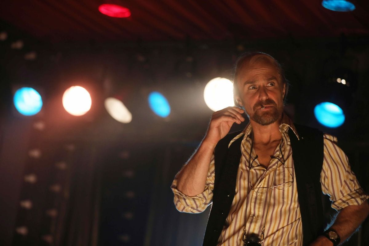 Sam Rockwell as Bob Fosse on the Kit-Kat Stage in Cabaret in Fosse/Verdon