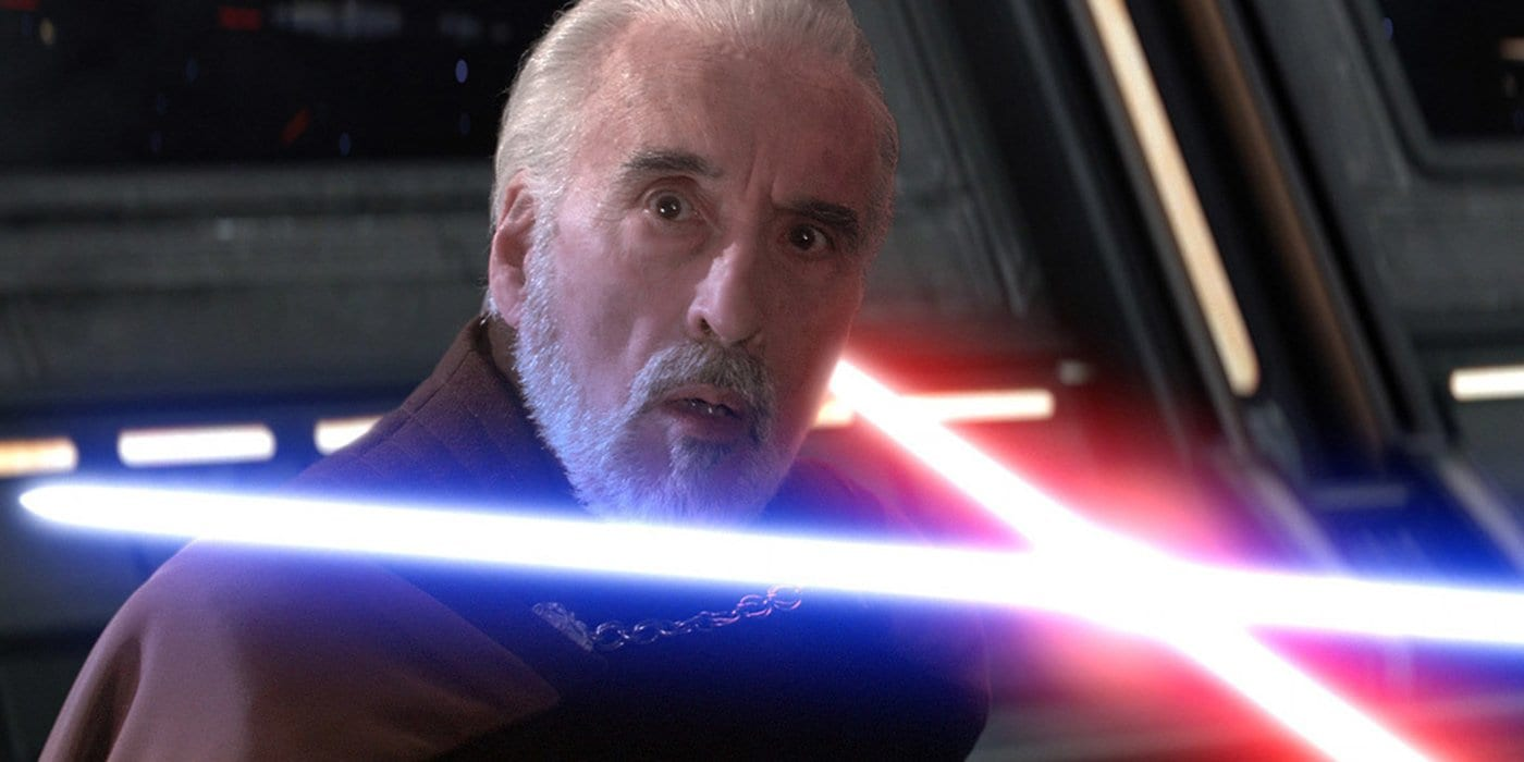 Count Dooku played by Christopher Lee