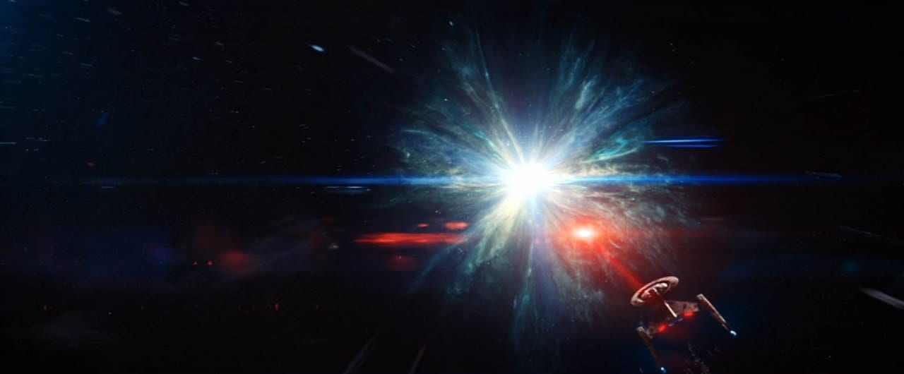 "Discovery enters the wormhole that will take it into the future in the Star Trek: Discovery Season 2 finale, ""Such Sweet Sorrow"" Part 2."