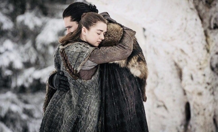 Arya and Jon Snow reunited in Season 8
