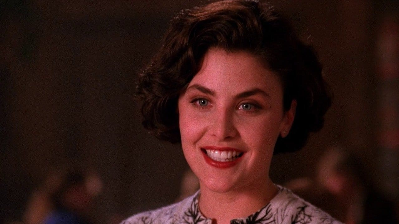 Audrey Horne smiling at Cooper