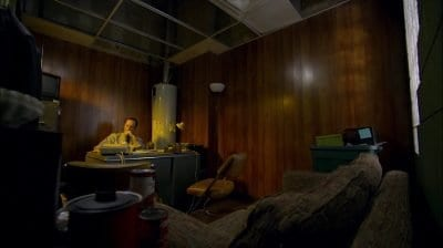 """The nail salon office of Jimmy McGill in the Better Call Saul pilot episode """"Uno"""""""