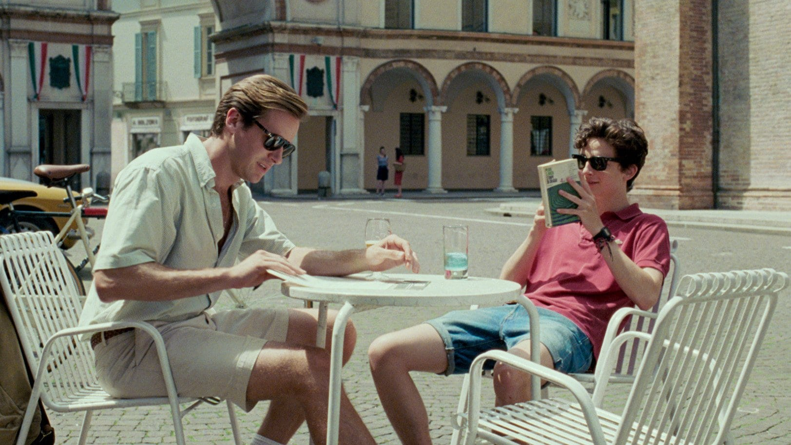 Cafe scene, Call me by your Name