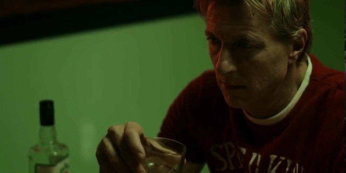 Cobra Kai - Johnny Lawrence drinking alone