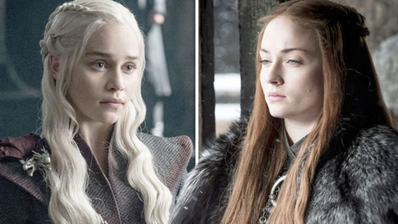 Daenerys Targaryen and Sansa Stark in the Season 8 premiere of Game of Thrones