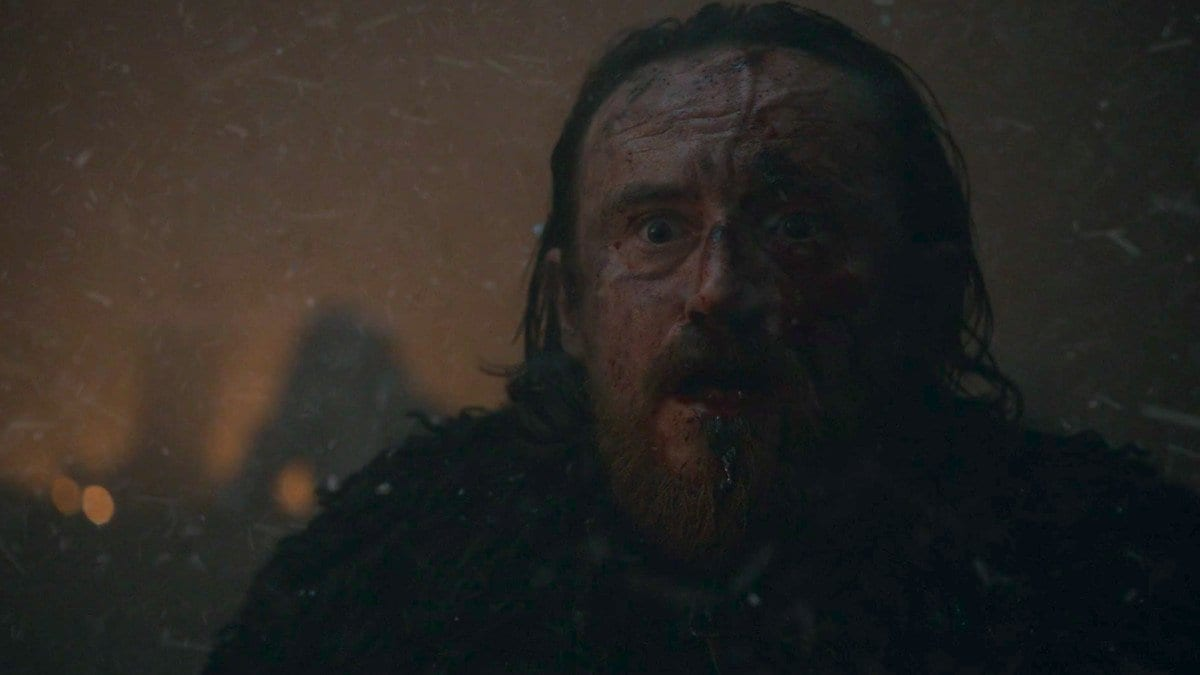 Eddison (Edd) Tollett's death in Game of Thrones The Long Night