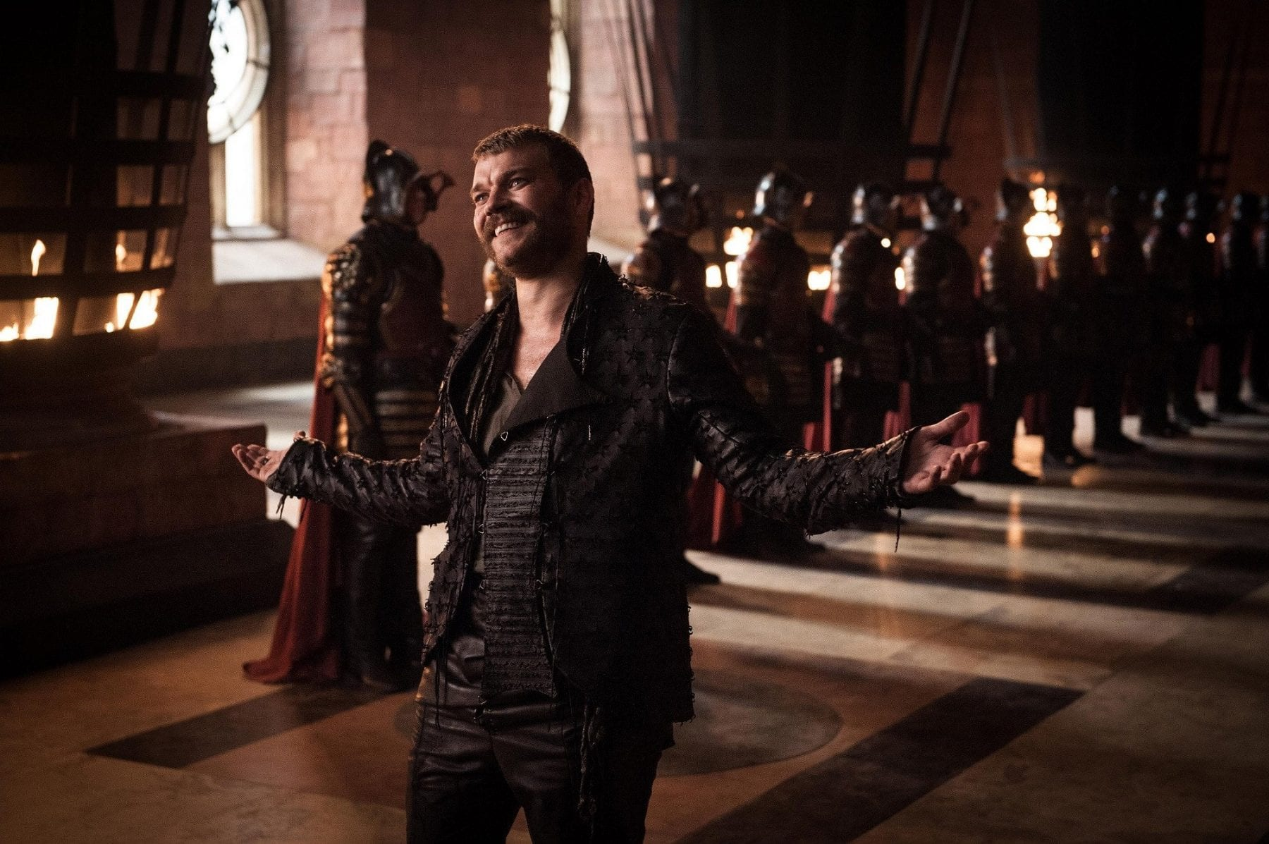 Euron Greyjoy tries to impress Cersei Lannister in the Season 8 premiere of Game of Thrones