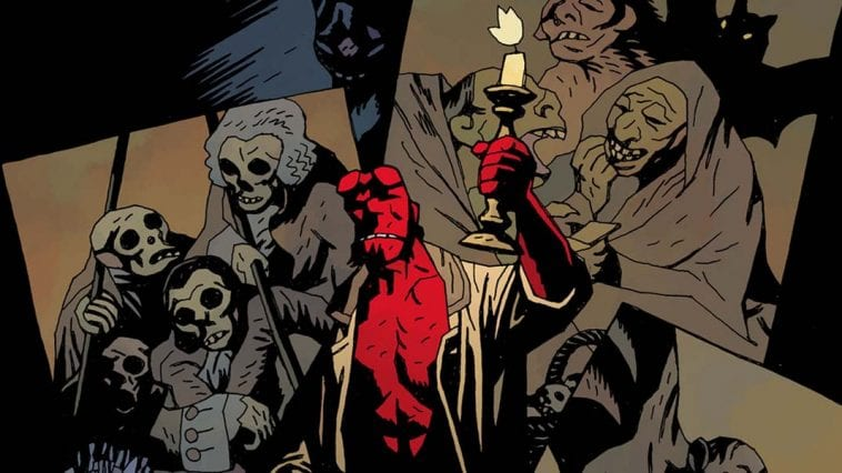 Hellboy as depicted in Mike Mignola's comics